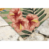 Tropic Botanical Border Rug corner view