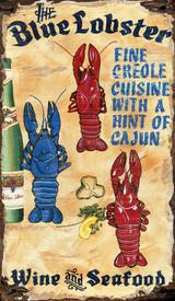 The Blue Lobster Custom Beach Sign