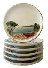 A Day at the Lake Canape Dishes-Set of 6