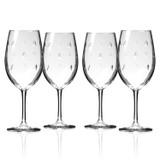 Sailing Etched Wine Glasses - Set of 4