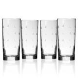 Sailing Etched Cooler Glasses - Set of