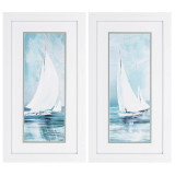 Soft Sailing Set of Two Nautical Art Pieces