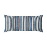 Fancy Navy Stripe Lumbar Indoor-Outdoor Lux Pillow