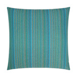 Sun Run Aqua Blue Indoor-Outdoor Lux Pillow