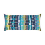 Sunfun Aqua Stripe Lux Lumbar Indoor-Outdoor Pillow