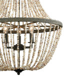 Cote des Basques Pearl Chandelier close up shells