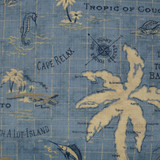 Island Ocean Song Indoor-Outdoor Pillow close up fabric swatch