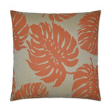 Bay Palm Orange Indoor-Outdoor Pillow