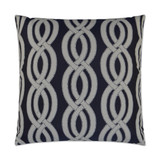 Sea Shore Navy Blue Indoor-Outdoor Pillow