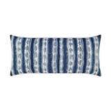 Sunshibo Navy and White Stripe Lumbar Pillow