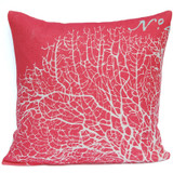 Coral-Pink Sea Fan Luxury Pillow