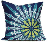 Navy Ornate Compass Luxury Pillow