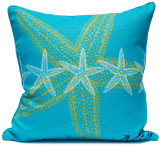 Lime and Aqua Starfish Luxury Pillow