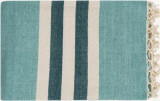 Mint and Teal Harbor Striped Throw
