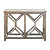 Catali Ivory Stone Console Table