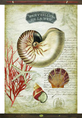 Del Le Mer Vintage Canvas Tapestry Wall Art