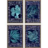 Blue Sea Garden Art - Set of 4