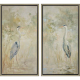 Wading Heron Framed Art - Set of Two