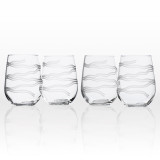 Good Vibrations Stemless Wine Glasses -Set of 4