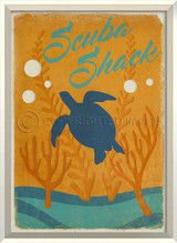 Scuba Shack Framed Poster Art