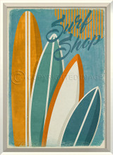 Surf Shop Framed Poster Art
