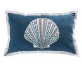 Bahama Embroidered Shell Lumbar Pillow