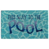 This Way to the Pool Natural Coir Mat