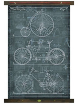 Vintage Bicycle Canvas Tapestry Wall Art