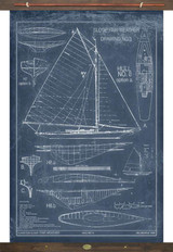 Sailboat Marine Drawings Vintage Tapestry Wall Art