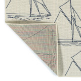 Sail Away Ivory Indoor-Outdoor Area Rug back image
