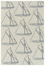 Sail Away Ivory Indoor-Outdoor Area Rug