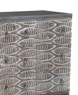 Waterfront Grey Harmony Chest close up fish and top