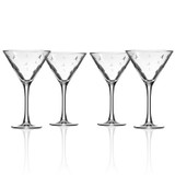 Sailing Etched Martini Glasses - Set of 4