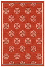 Tangerine Medallion Indoor-Outdoor Rug