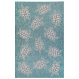 Aqua Carmel Sea Turtle Rug main image