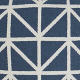 Navy Port of Call Pillow close up fabric