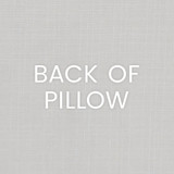 Navy Port of Call Pillow back of pillow