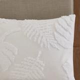 Bahama Palms Tufted Chenille King Comforter Set sham close up