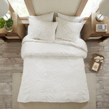 Bahama Palms Tufted Chenille Queen Comforter Set overhead view