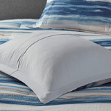 Marina Sea 8-Piece Comforter and Coverlet Collection water color stripes
