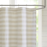 Sand Dune Striped Shower Curtain 2