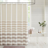 Sand Dune Striped Shower Curtain
