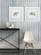 Turtle Tropics Wall Art - Set of Two room view