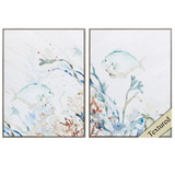 Tropical Under the Sea Art Set of Two