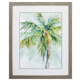Palm Breezes II Framed Art