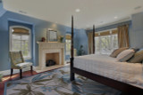 Ivory and Turquoise Tropica Area Rug room view