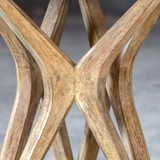 Marnie Limestone Accent Table close up