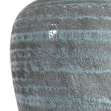 Pelia Light Aqua Striped Table Lamp close up 2