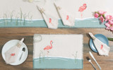 Water's Edge Flamingo Table Linens Group