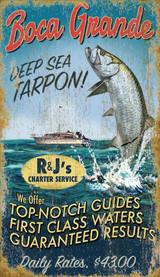 Boca Grande Tarpon Fishing Custom Art